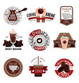 coffee production emblems vector image vector image