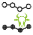cow trends halftone icon vector image vector image