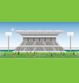crowd in stadium grandstand to cheering football vector image vector image