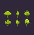 cute fantasy green trees set fantastic landscape vector image vector image