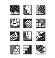 decorative flooring icon set vector image