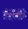 development poster with flat icons set vector image vector image