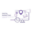 digital marketing corporate business strategy vector image vector image