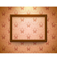 Empty frame on the wall vector image vector image