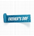 Fathers Day curved textile Ribbon with Text vector image vector image