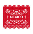 festive mexican banner card with floral vector image