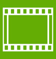 film with frames movie icon green vector image vector image