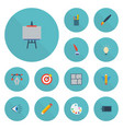 flat icons pen eye gadget and other vector image vector image