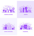 flat line purple designed concepts 5 vector image vector image