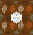 floral seamless pattern with autumn grunge blue vector image