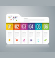 folder infographics design with 6 options vector image vector image