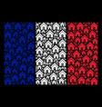 french flag mosaic of home icons vector image