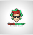 geek gamer is a gamer hobbies logo or logo for vector image