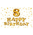 gold balloon font number 8 made of realistic vector image vector image