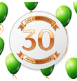 Golden number thirty years anniversary celebration
