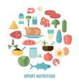 healthy food concept healthy food concept vector image