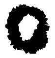 hole in the surface icon black color flat style vector image vector image