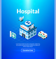 hospital poster of isometric color design vector image
