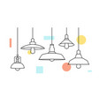 industrial loft metal pendant light hanging lamp vector image