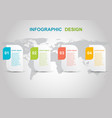 infographic design template on gray background vector image vector image