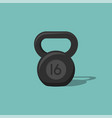 kettlebell icon isolated on background vector image vector image