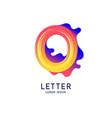 letter o latin alphabet display vector image