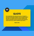 material design style background and quote vector image vector image