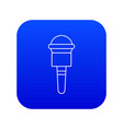 microphone icon blue vector image vector image