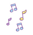 music notes creative icons vector image