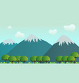 nature landscape scene forest and mountain vector image vector image