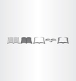open book icons set design elements vector image vector image