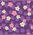 pattern with sakura flowers vector image vector image