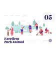 people spend time in animal park leisure vector image vector image