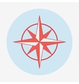 Pirate or sea icon wind rose Flat design vector image vector image