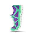 Realistic bright curved sport shoes for running vector image vector image