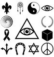Religion esoteric and mystery icons set vector image