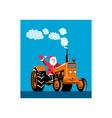 Santa Claus Driving Tractor vector image vector image
