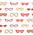 Seamless pattern fashion isolated sunglasses set vector image vector image