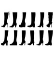 set of different boots vector image