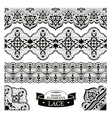 Set of lace patterns vector image vector image