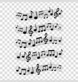 sheet music5 vector image vector image