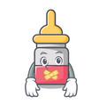 silent nassal drop mascot cartoon vector image
