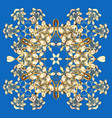 snowflake icon isolated winter snowflakes on vector image