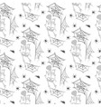spider halloween seamless pattern party cobweb vector image