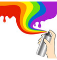 spray paint in hand vector image