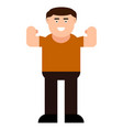 strong man icon vector image vector image