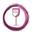 tasty wine glass inside of bubble vector image vector image