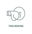 thai boxing line icon linear concept vector image vector image