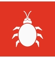 The beetle and bug icon Acarid insect virus vector image vector image
