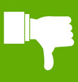 thumb down gesture icon green vector image vector image